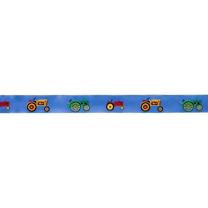 7/8'' Ribbon Tractors Blue