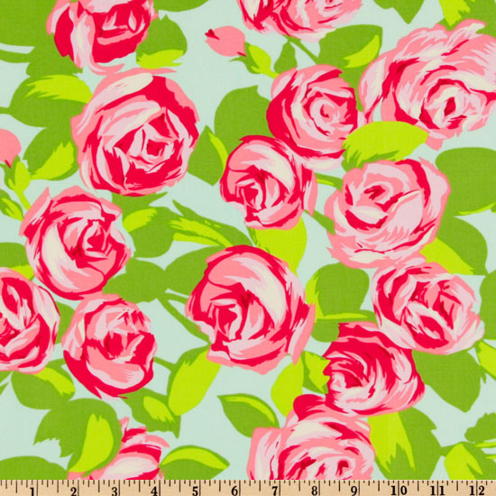 Amy Butler Love Tumble Roses Pink Fabric