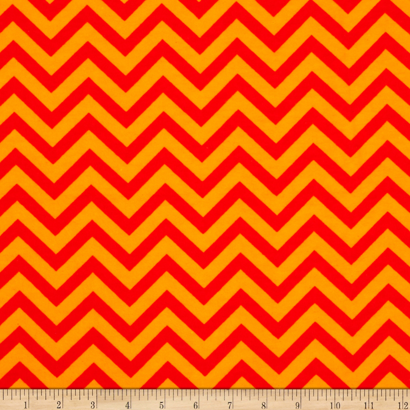 Flannel Chevron Orange Fabric