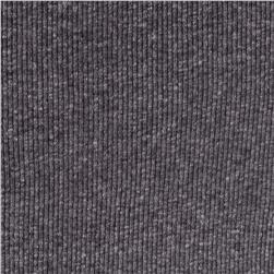 2x1 Rib Knit Solid Light Gray