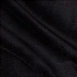 Terry Velour Knit Black Fabric