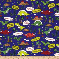 Seven Islands Dinosaurs Canvas Royal Blue