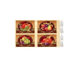 Thankful Harvest Placemat 24 In. Panel Multi