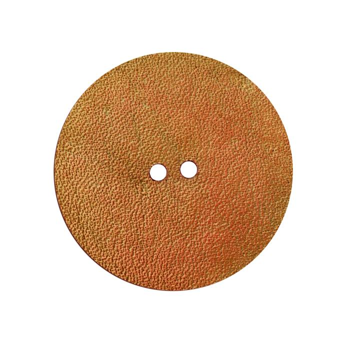 2'' Leather Button Round Tan