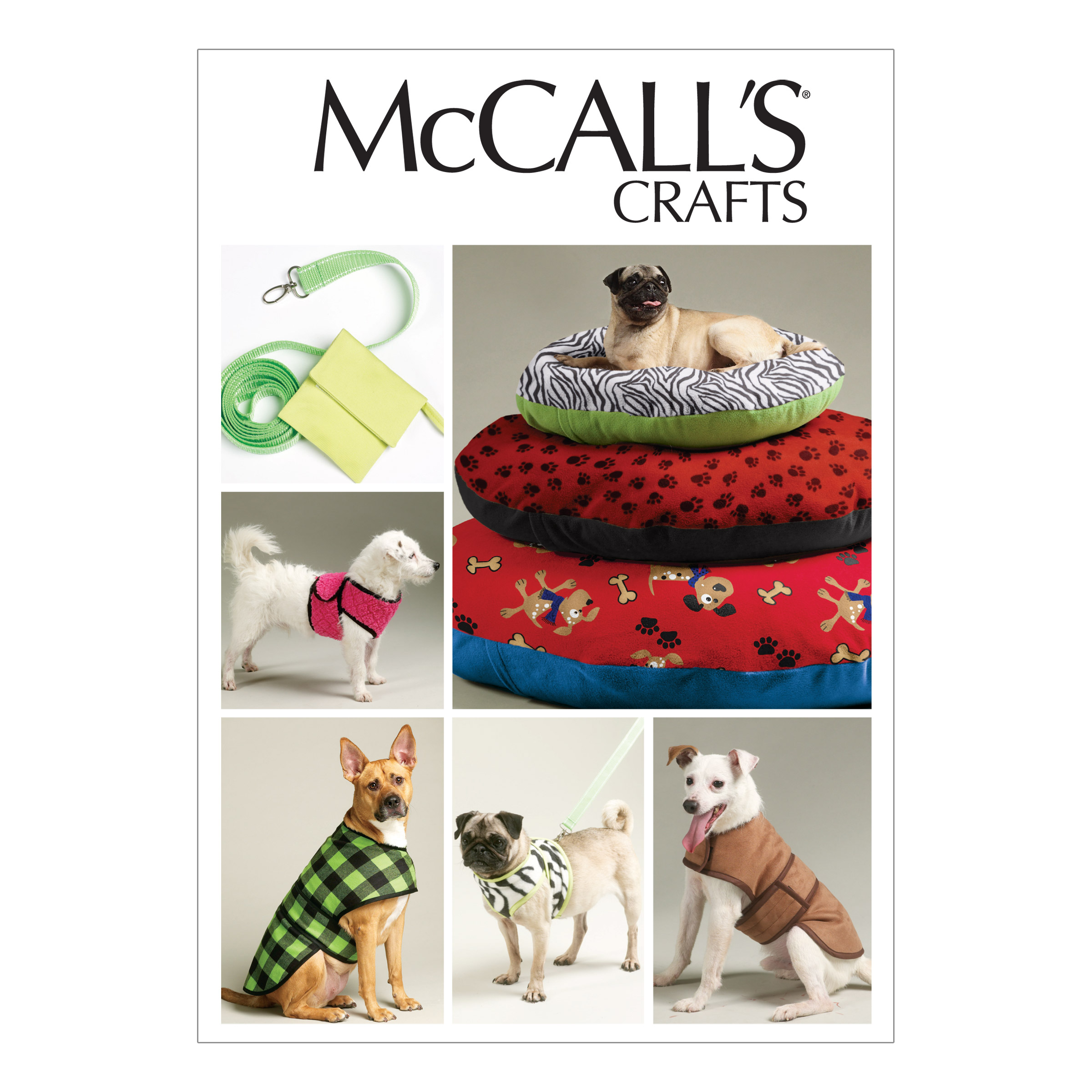 Mccalls Dog Bed In 3 Sizes Leash Case Harness Vest And Coat Pattern M6455 Size Osz