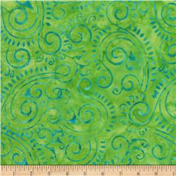 Wilmington Batiks Scroll Lime Green
