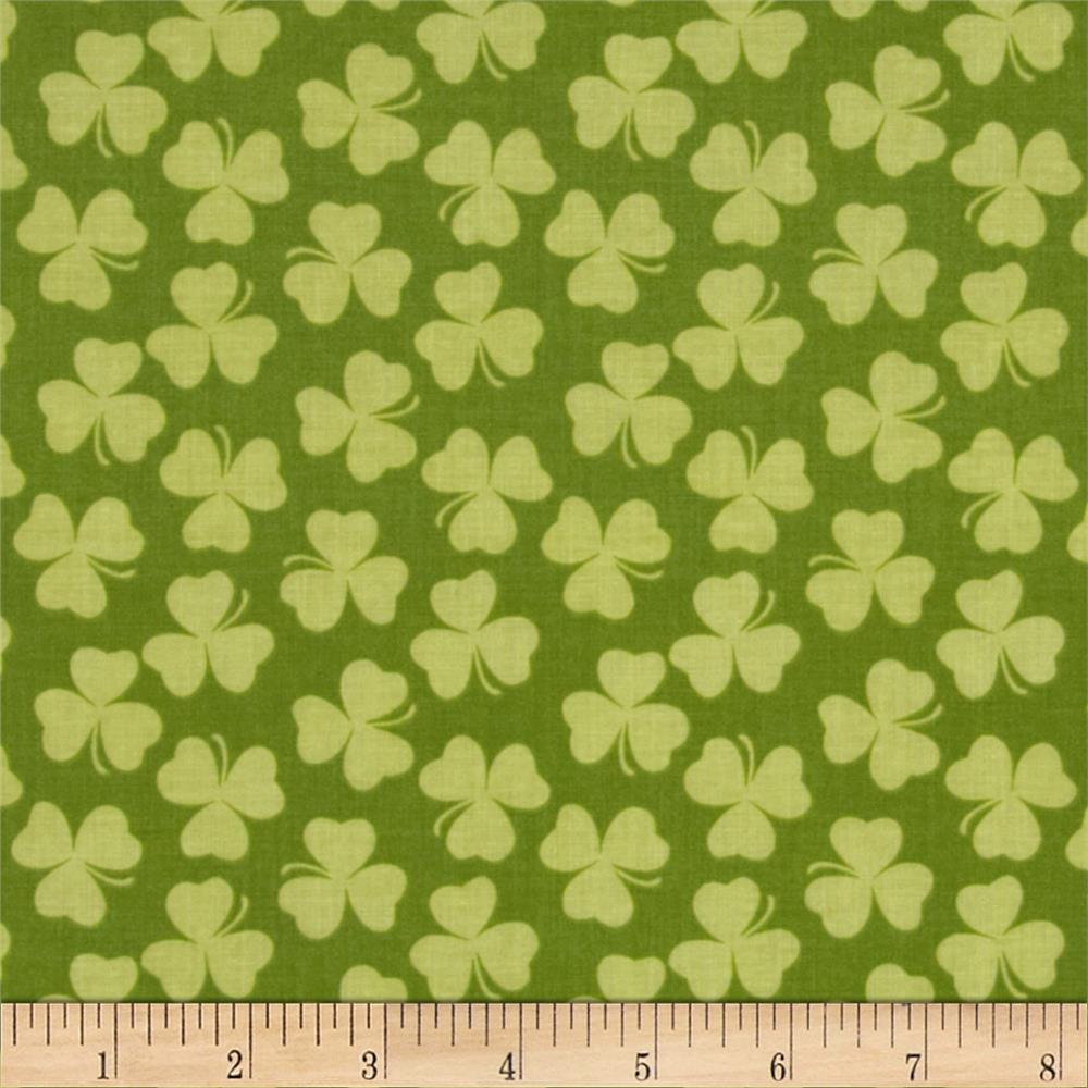 Riley Blake Holiday Banners Clover Green