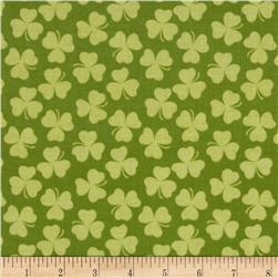Riley Blake Holiday Banners Clover Green Fabric