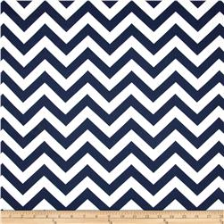 Premier Prints Zig Zag Twill Blue Fabric