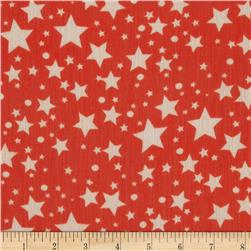 Yoryu Chiffon Stars Dots White/Red
