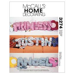McCall's Novelty Pillows Pattern M3274 Size OSZ