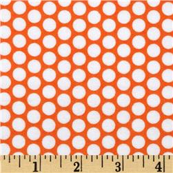 Riley Blake Flannel Honeycomb Dot Orange Fabric