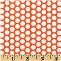 Riley Blake Flannel Honeycomb Dot Orange