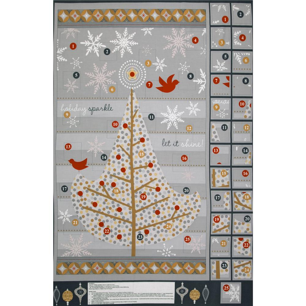 Holiday Sparkle Advent Calendar Grey