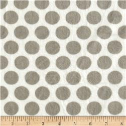 Minky Cuddle Classic Mod Dot Silver/White