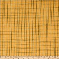 Homespun Yarn Dyed Plaid Shirting Yellow/Green