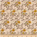 Windham Ophelia Med Floral Cluster  Cocoa