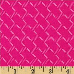 Michael Miller Delightful Cottage Path Raspberry Fabric