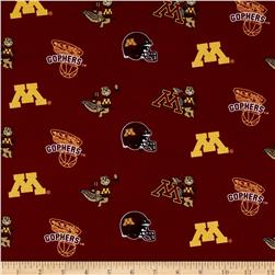Collegiate Cotton Broadcloth University of Minnesota