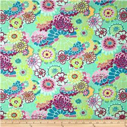 Kaffe Fassett Collective Asian Circles Green Fabric