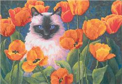 Dimensions Purrfect Poppies 7'' x 5'' Mini Counted