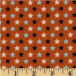 Riley Blake Rocket Age Stars Orange