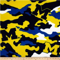 University of Michigan Fleece Camo Blue