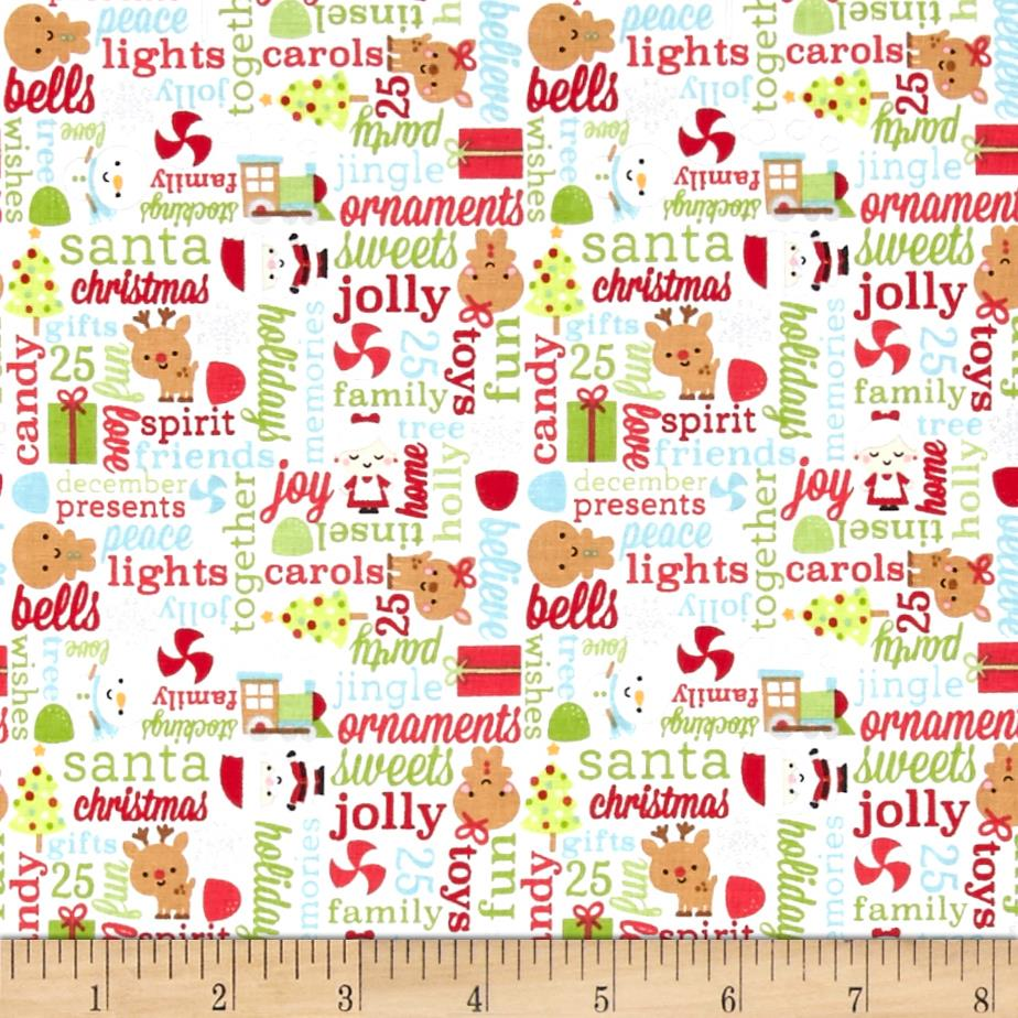 Riley Blake Santa Express Greetings Multi