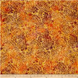 Timeless Treasures Tonga Batik Vineyard Wandering Vines Ochre