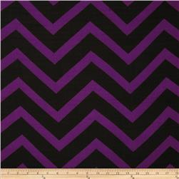 Chiffon Large Stripe Chevron Purple/Black