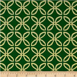 Michael Miller Holiday Glitz Glitz Clover Spearmint