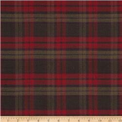 Cozy Yarn Dye Flannel Large Plaid Red