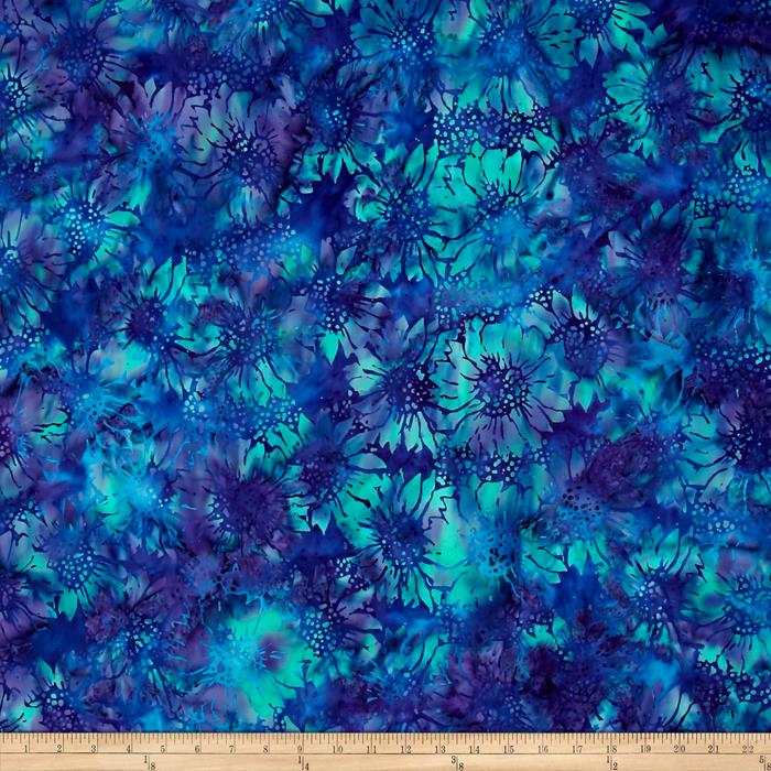 Island Batik Sunflower Purple/Green