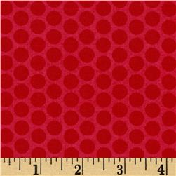 Riley Blake Honeycomb Dot Tone on Tone Red