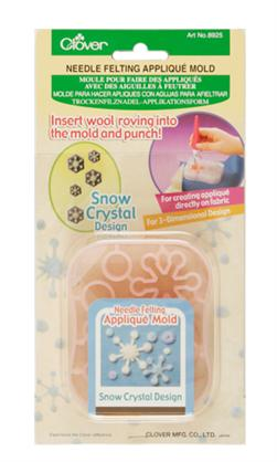 Snow Crystal Needle Felting Applique Mold