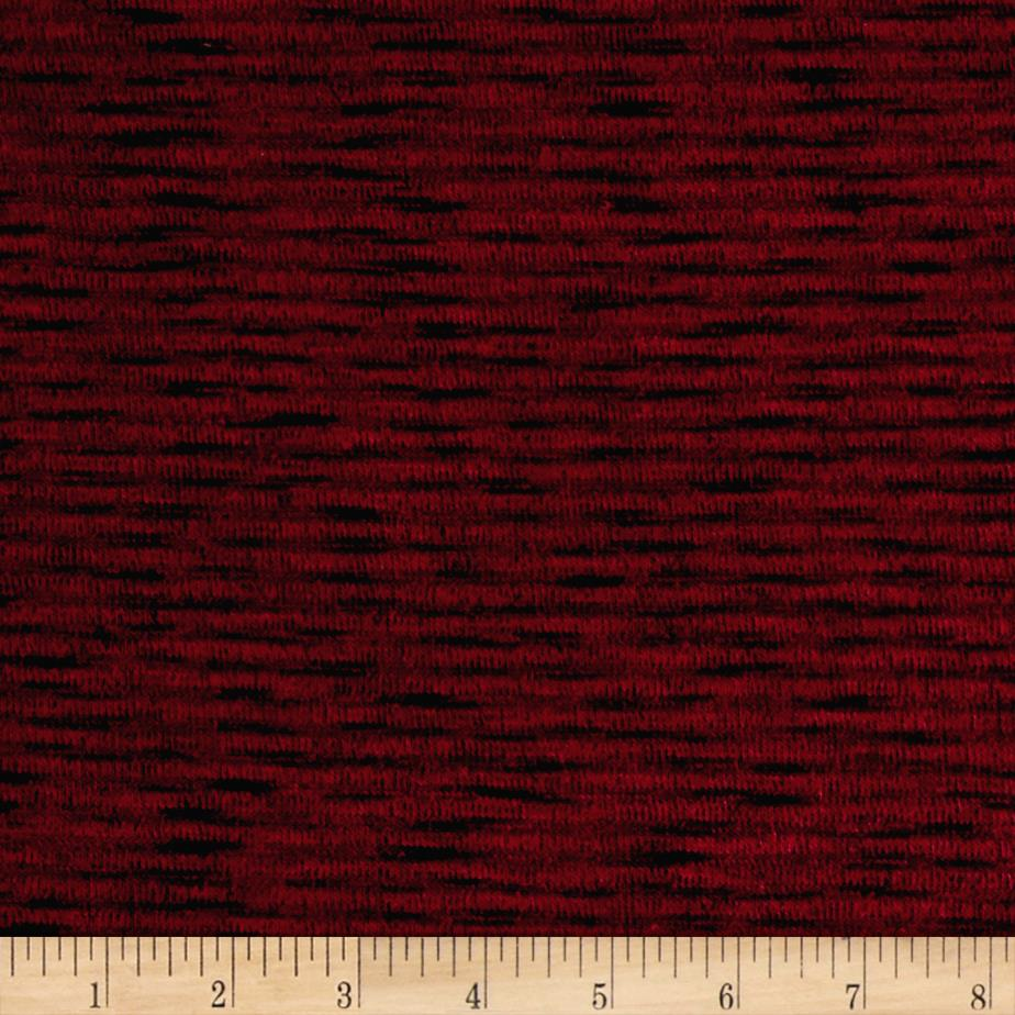 Sweater Hatchi Knit Two Tone Scarlet Red/Black