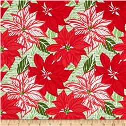 Moda Jingle Poinsettia Crimson