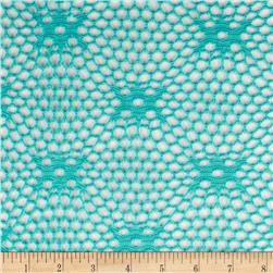 Geometric Crochet Lace Aqua