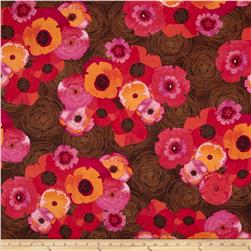 Always Blooming Tossed Floral Brown