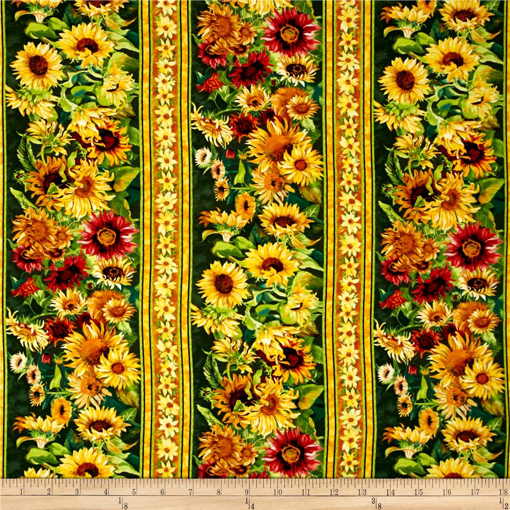 Flowers Of The Sun Repeating Stripe Multi