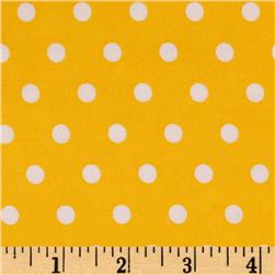 Pimatex Basics Polka Dots Yellow Fabric
