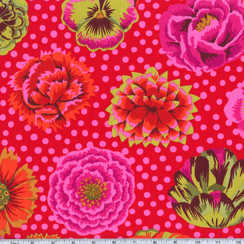 Kaffe Fassett Big Blooms Red Fabric