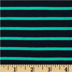 St. James Stripe Double Knit Navy/Green
