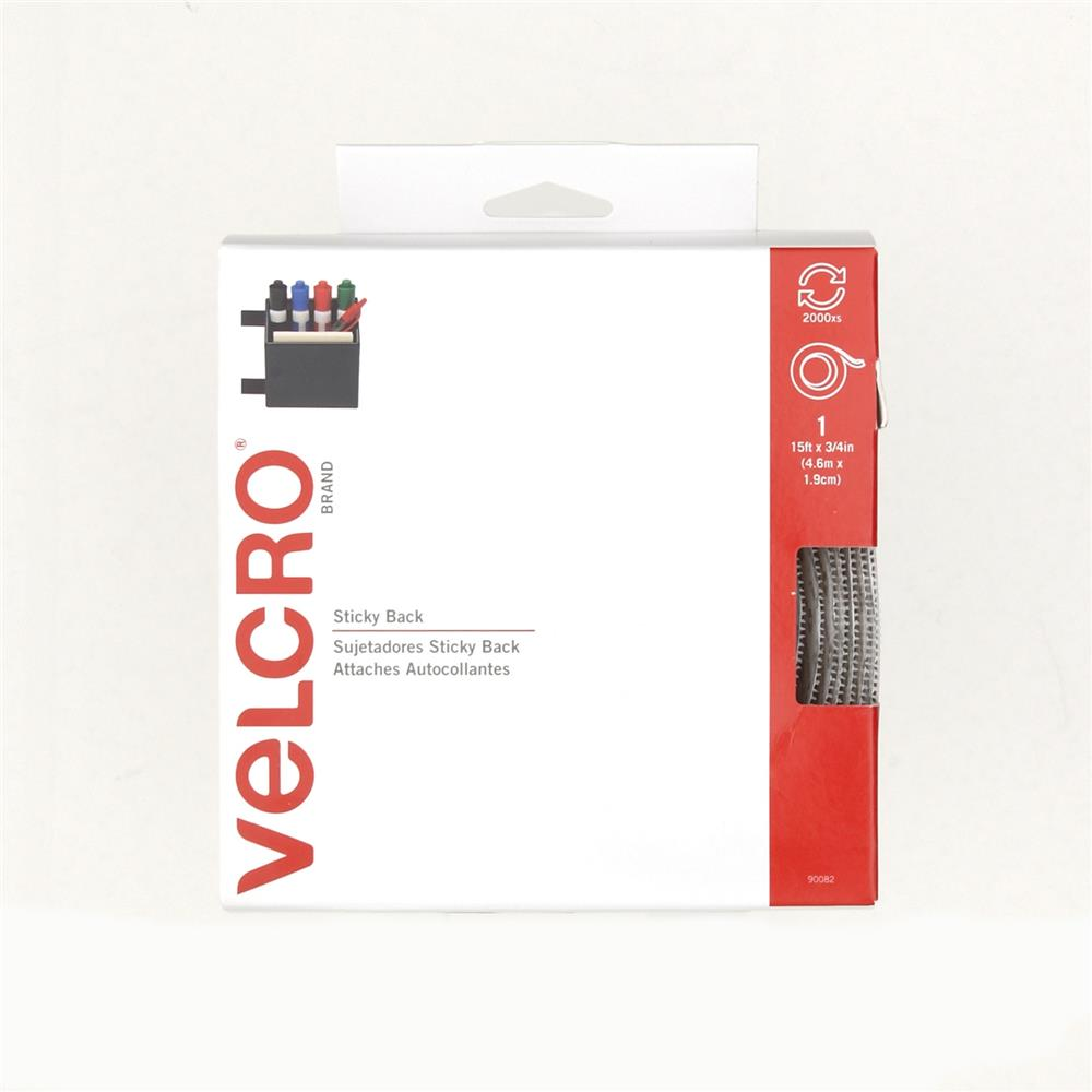 Velcro Sticky Back Tape Roll 3/4'' x 5YDs White