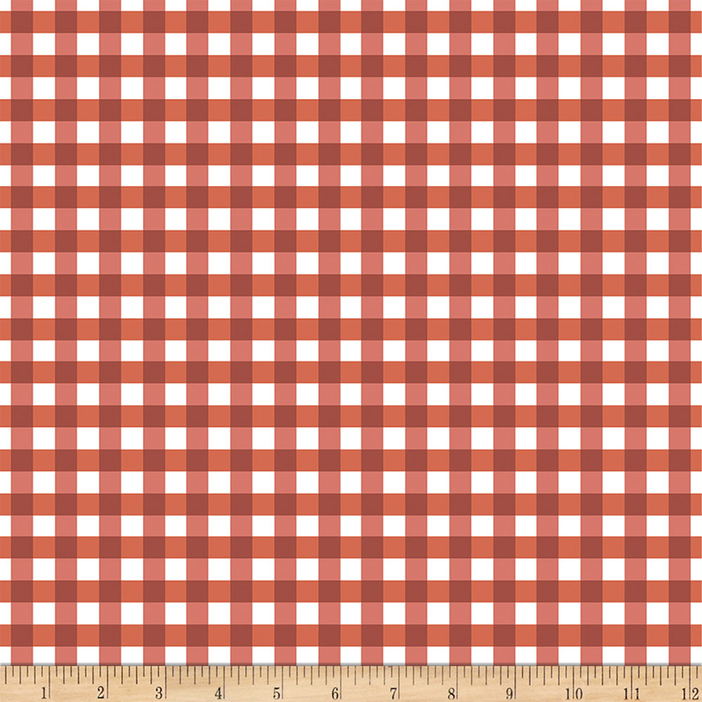Flower Market Gingham Red