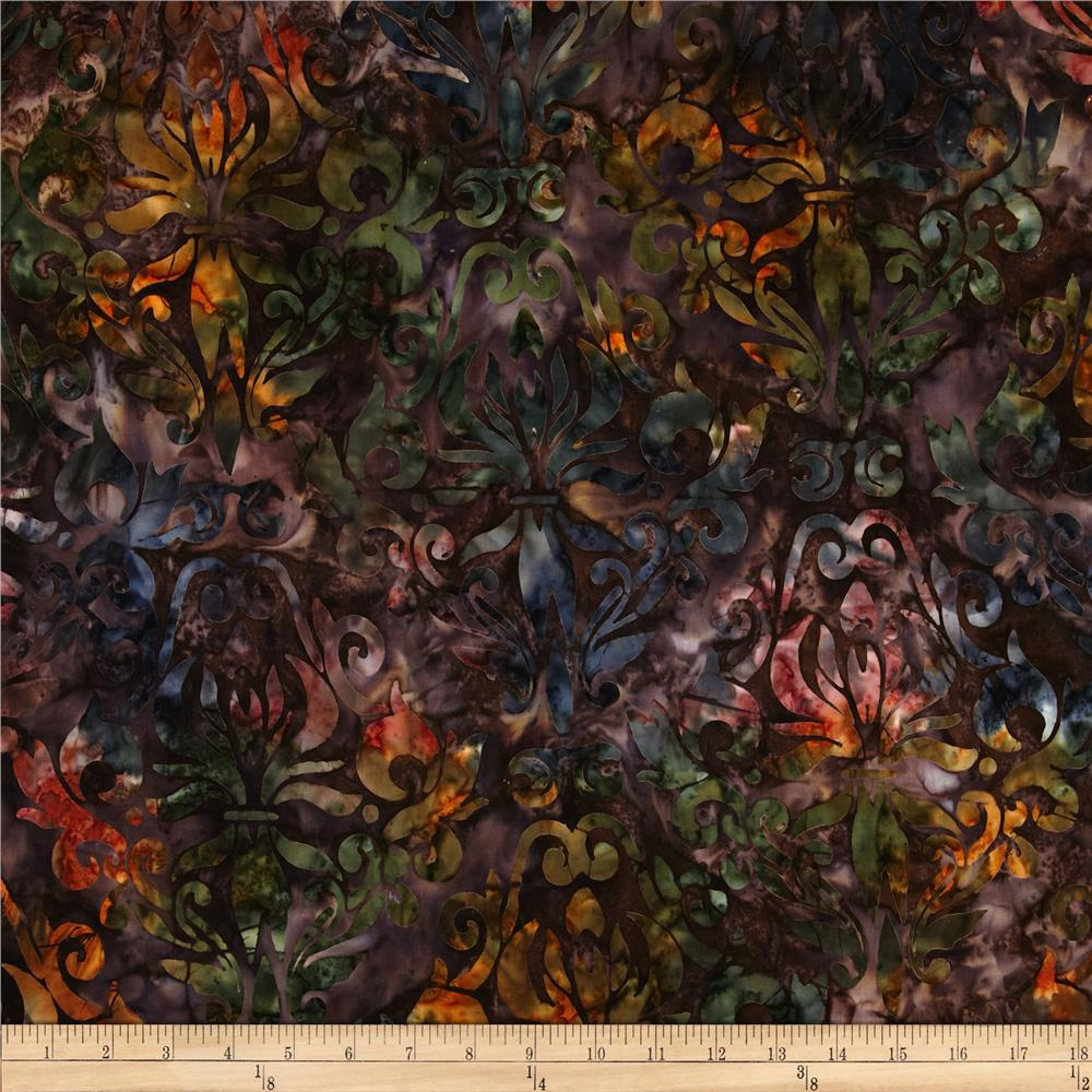 Artisan Batiks Regal Abstract Flowers Bronze