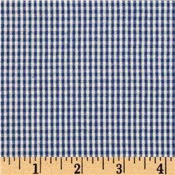 Kaufman Classic Seersucker Check Royal Fabric