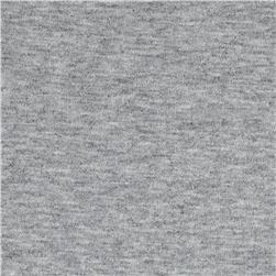 Stretch French Terry Knit Heather Grey