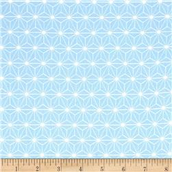 Avalana Jersey Knit Flower Geometric Blue
