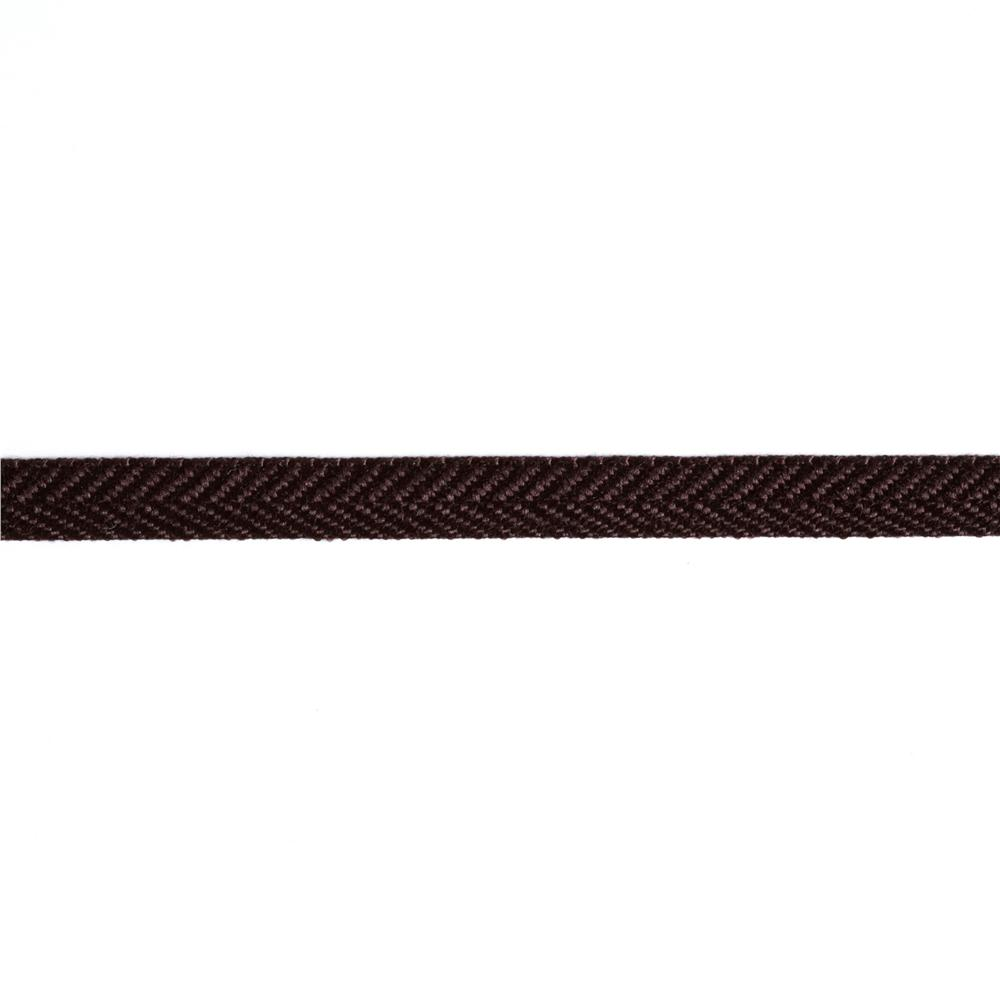 3/8'' Poly Twill Tape Ribbon Brown
